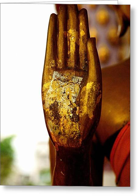 Abhaya Mudra IIi In Colour Greeting Card
