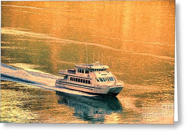 Aboard The Ave Maria Greeting Card by Flamingo Graphix John Ellis