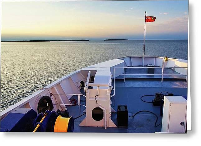 Aboard The Chi-cheemaun Greeting Card