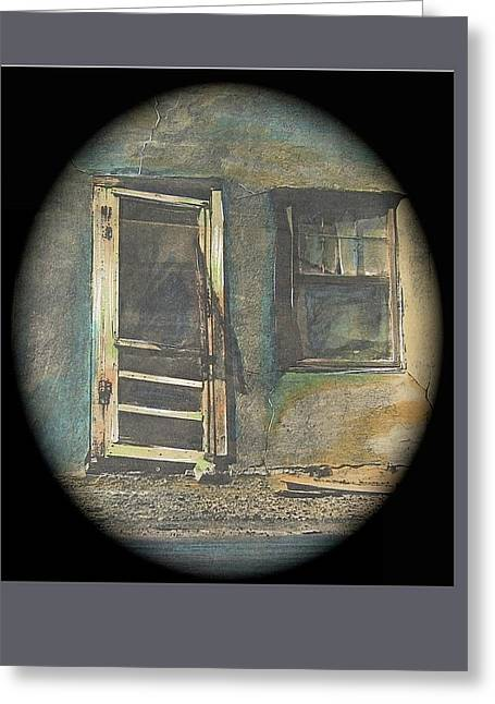 Abobe House Collage Lordsburg New Mexico 1968-2008 Greeting Card & Lordsburg Greeting Cards | Fine Art America
