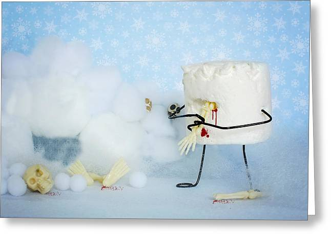 Abominable Snowmallow Greeting Card by Heather Applegate