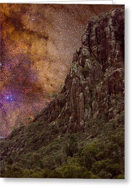 Charles Warren Greeting Cards - Aboriginal Dreamtime Greeting Card by Charles Warren