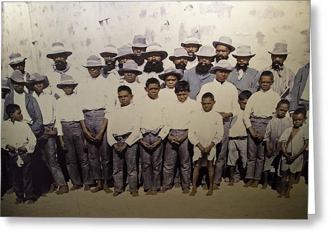Greeting Card featuring the photograph Aboriginal Life 1901 To 1914 by Miroslava Jurcik