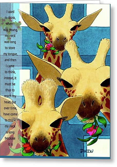 About My Neck Greeting Card by Tom Dickson