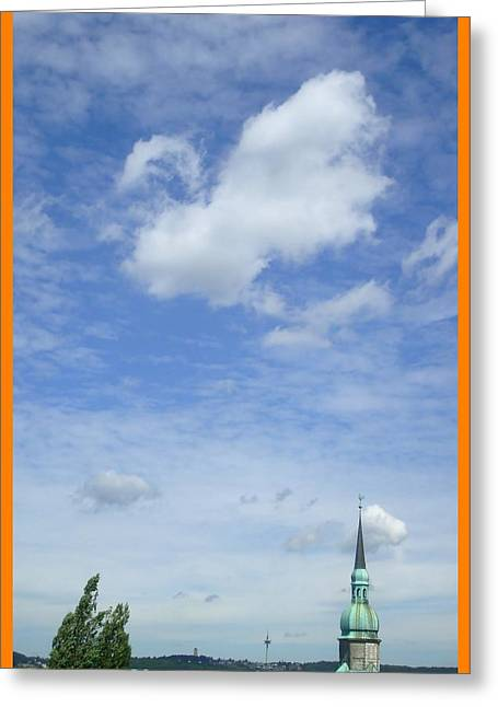 About Reaching The Sky Greeting Card by Allen Rybo