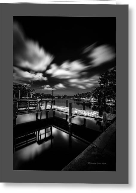 About The Pier Greeting Card by Marvin Spates