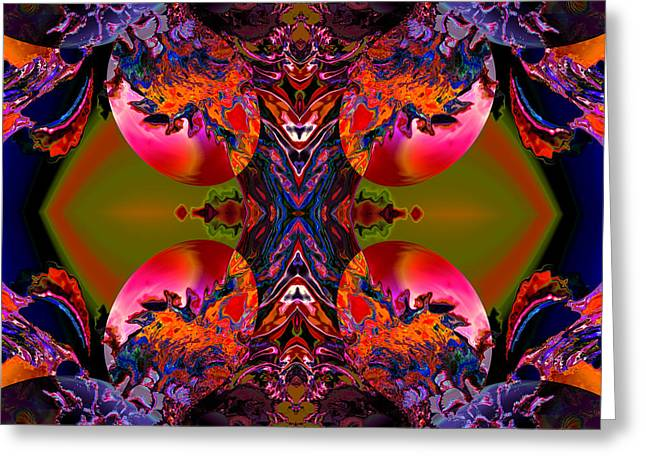 Colorful Abstract Algorithmic Contemporary Greeting Cards - About to be born Greeting Card by Claude McCoy