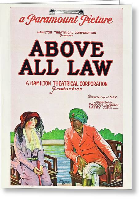 Above All Law Greeting Card by Paramount
