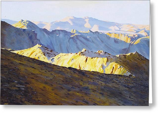 Above Bighorn Greeting Card
