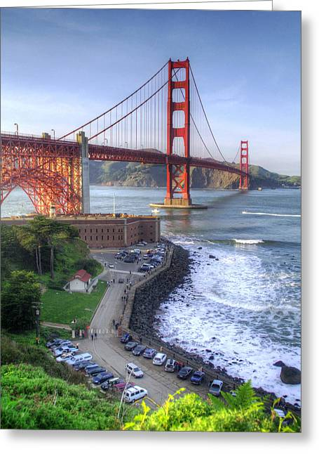 Above Fort Point Greeting Card by Ken Osborn