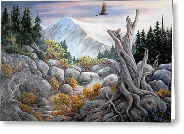 Above It All Greeting Card by Don Trout