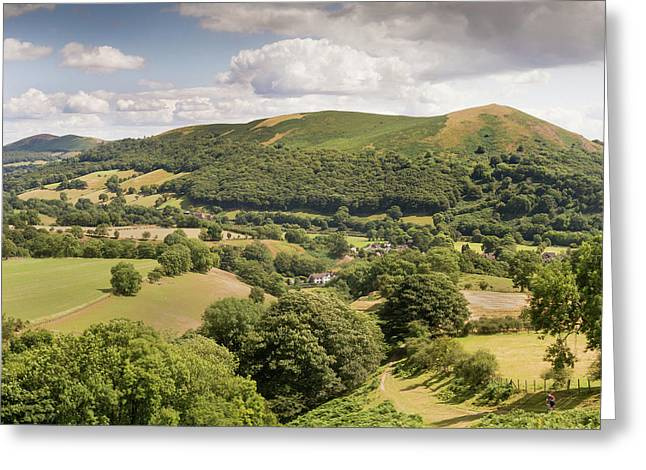 Above Little Stretton Greeting Card by Richard Greswell