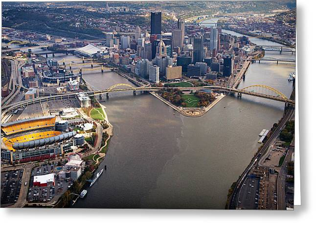 Above Pittsburgh In  Color  Greeting Card