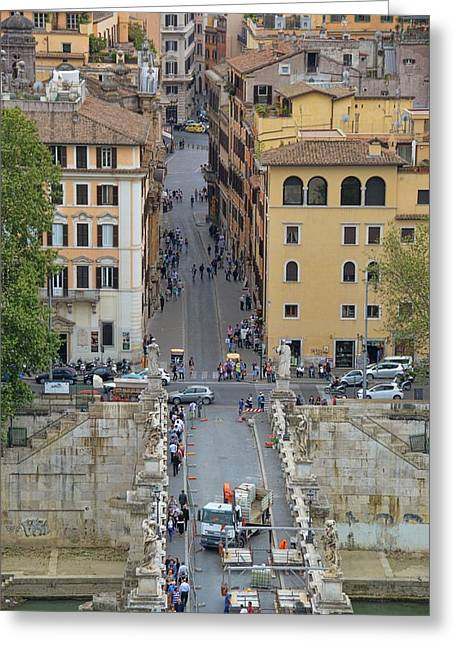 Above Ponte Sant'angelo Greeting Card by JAMART Photography