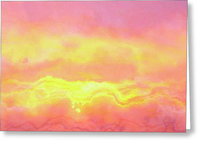 Above The Clouds - Abstract Art Greeting Card