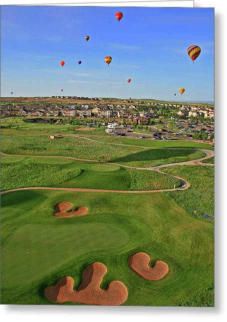 Above The Course Greeting Card