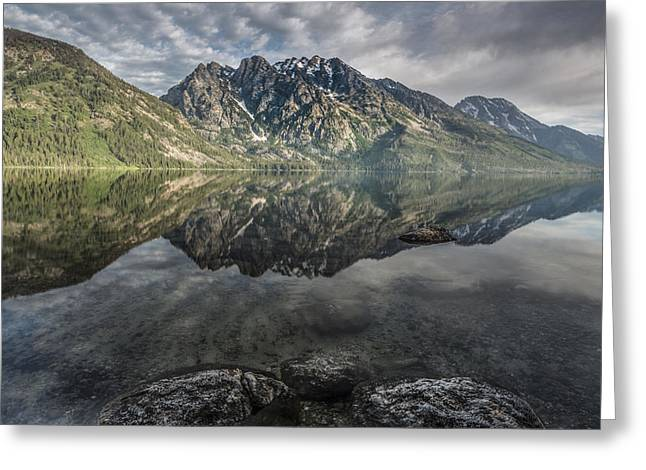 Above The Lake Greeting Card by Jon Glaser