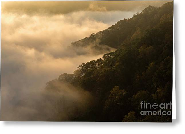 Greeting Card featuring the photograph Above The Mist - D009960 by Daniel Dempster