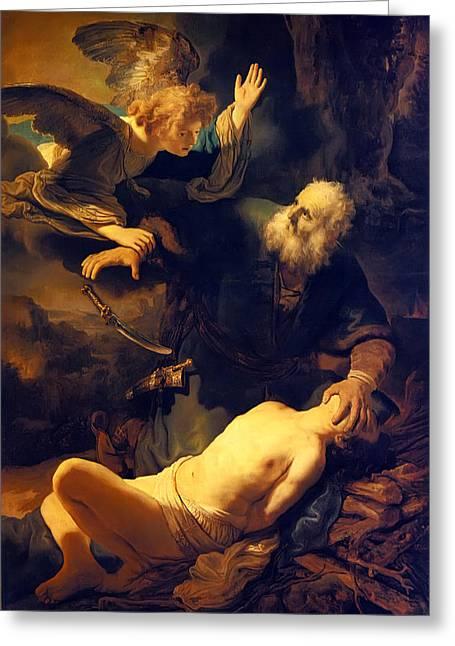 Abraham And Isaac Greeting Card