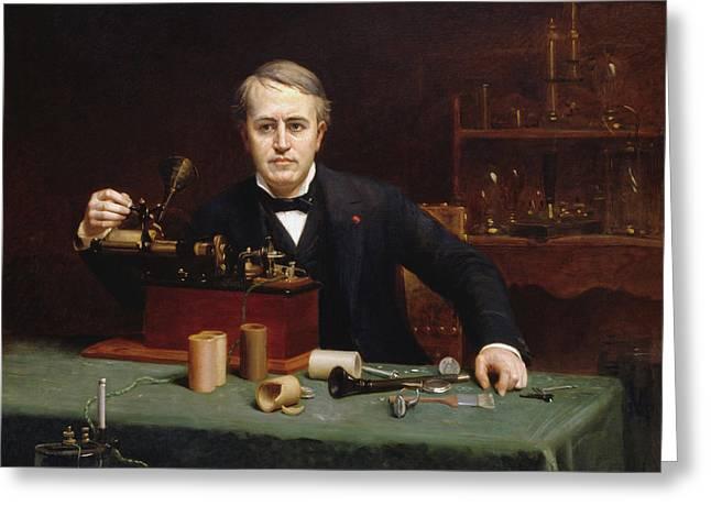 Abraham Archibald Anderson Thomas Alva Edison 1890 Greeting Card