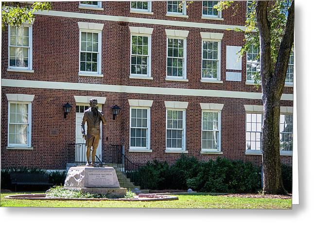 Abraham Baldwin Statue At Uga Greeting Card by Parker Cunningham