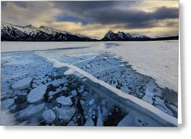 Abraham Lake Ice Bubbles Greeting Card