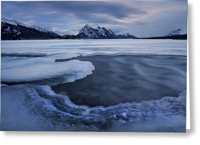 Abraham Lake Sans Bubbles Greeting Card