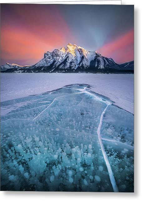 Abraham Lake Splendor // Alberta  Greeting Card
