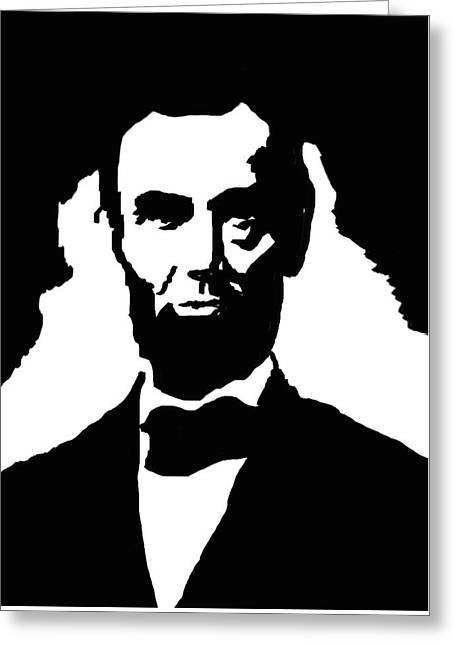 Abraham Lincoln Greeting Card by Art Spectrum