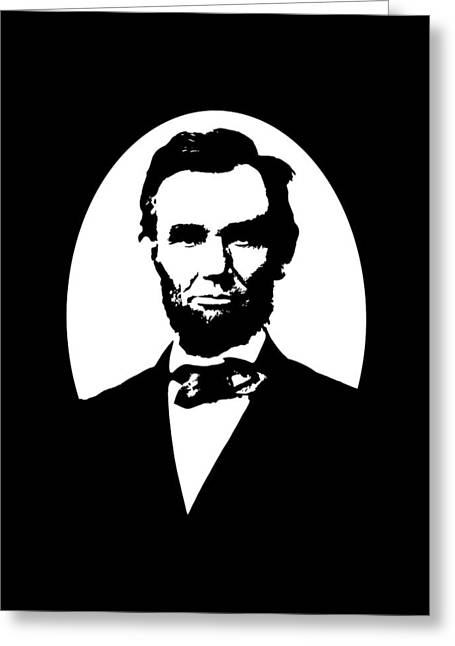 Abraham Lincoln - Black And White Greeting Card