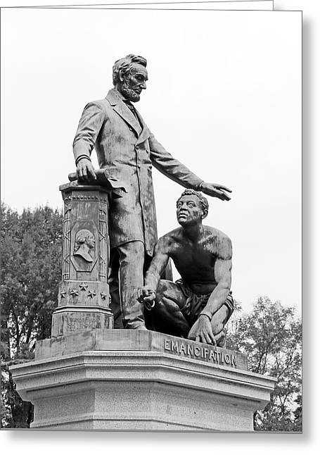 Abraham Lincoln Freeing A Slave At The Emancipation Memorial -- 6 Greeting Card