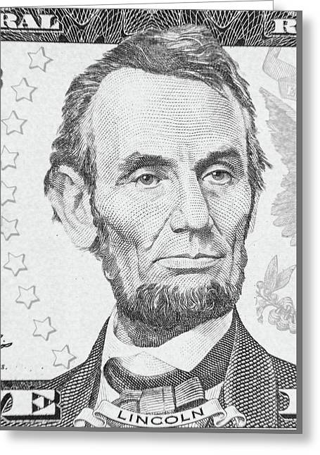 Greeting Card featuring the photograph Abraham Lincoln by Les Cunliffe
