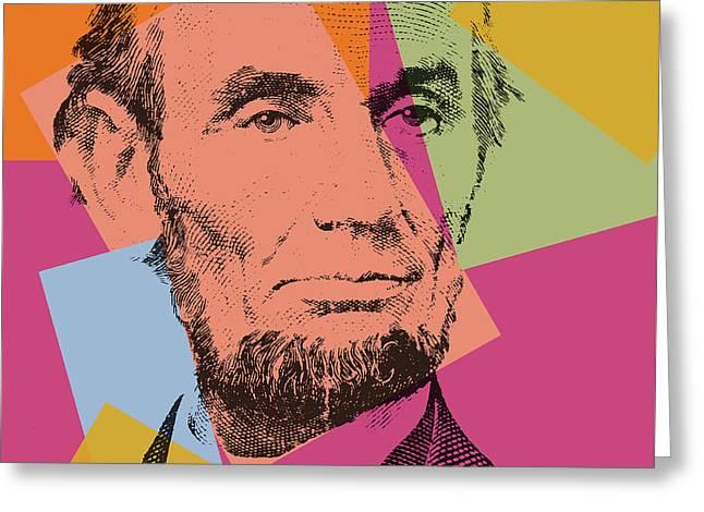 Abraham Lincoln Pop Art Greeting Card