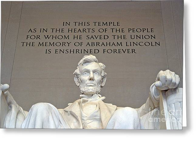 Abraham Lincoln Statue - 2 Greeting Card