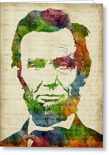 Abraham Lincoln Watercolor Greeting Card