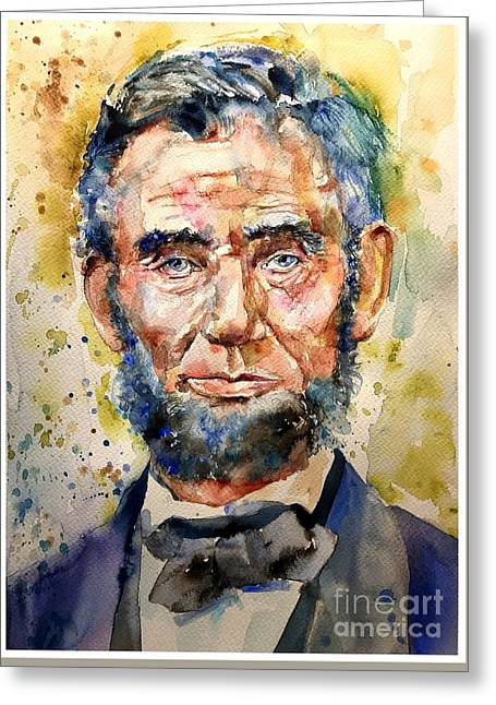 Abraham Lincoln Watercolor Greeting Card