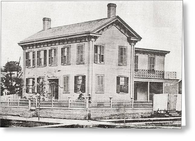Abraham Lincolns  Family Home Greeting Card by Vintage Design Pics