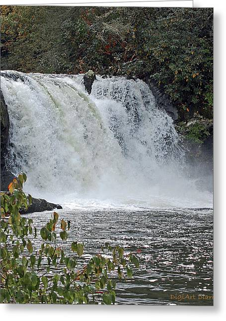 Abrams Falls Cades Cove Tn Greeting Card by DigiArt Diaries by Vicky B Fuller