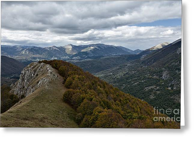 Abruzzo National Park From The Top Of The Mountain Greeting Card
