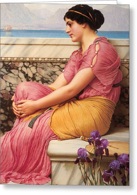 Absence Makes The Heart Grow Fonder Greeting Card by John William Godward