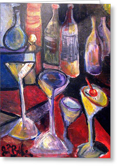 Absent One Whiskey  Greeting Card by Jon Baldwin  Art