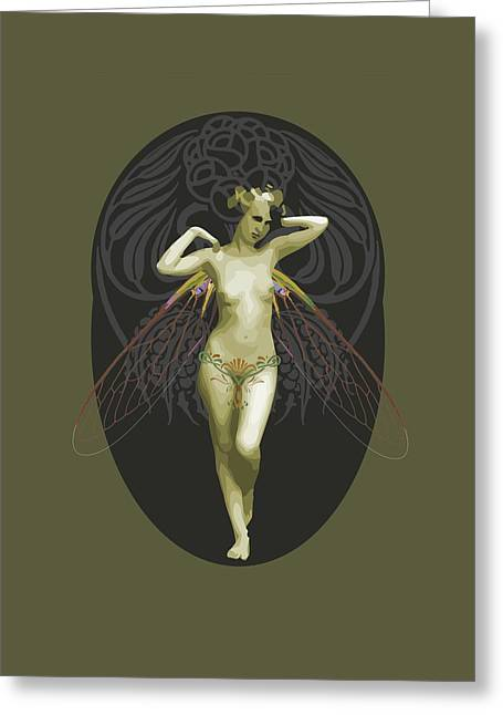 Absinthe Fairy  Greeting Card by Joaquin Abella