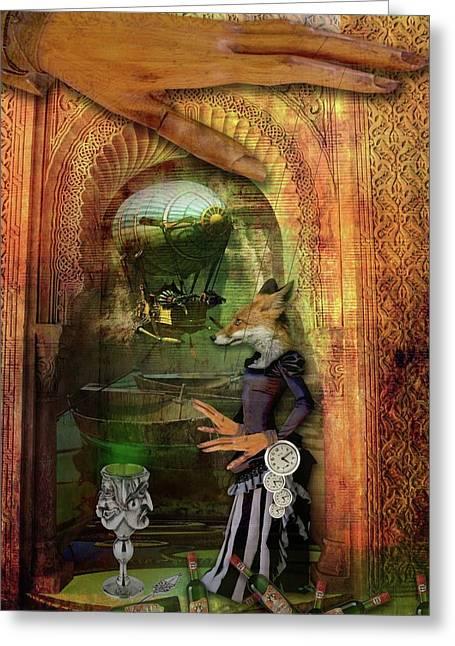Absinthe Of Faith Greeting Card by Deile Smith