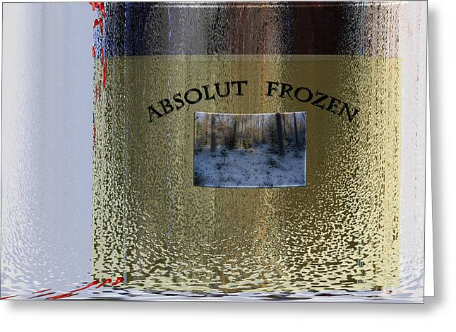 Absolut Frozen Greeting Card by Ove Rosen