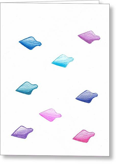 Absract Colored Arrowheads Greeting Card by Chetan Lad