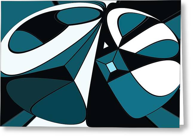 Abstrac7-30-09-a Greeting Card by David Lane