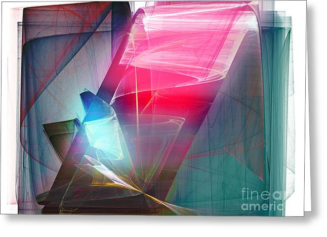 Abstract - Crystal Bar Greeting Card