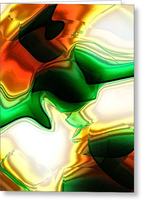 Abstract - Fusion Greeting Card by Patricia Motley