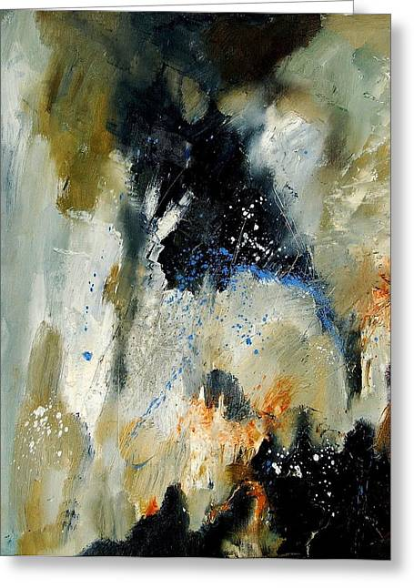 Abstract 070808 Greeting Card by Pol Ledent