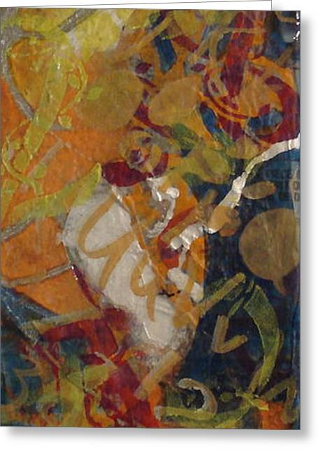 Abstract #1 Greeting Card by Buff Holtman